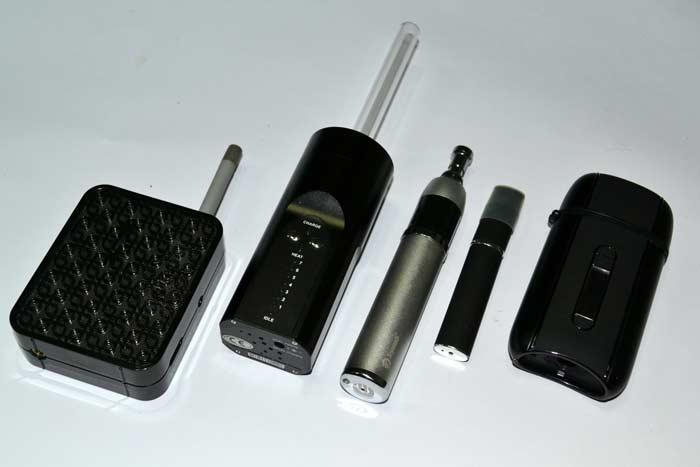 Varios vaporizadores portatiles