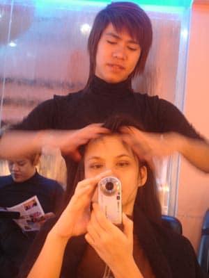 Masajes en el cuero cabelludo