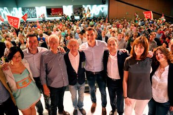 Mitin del PSOE