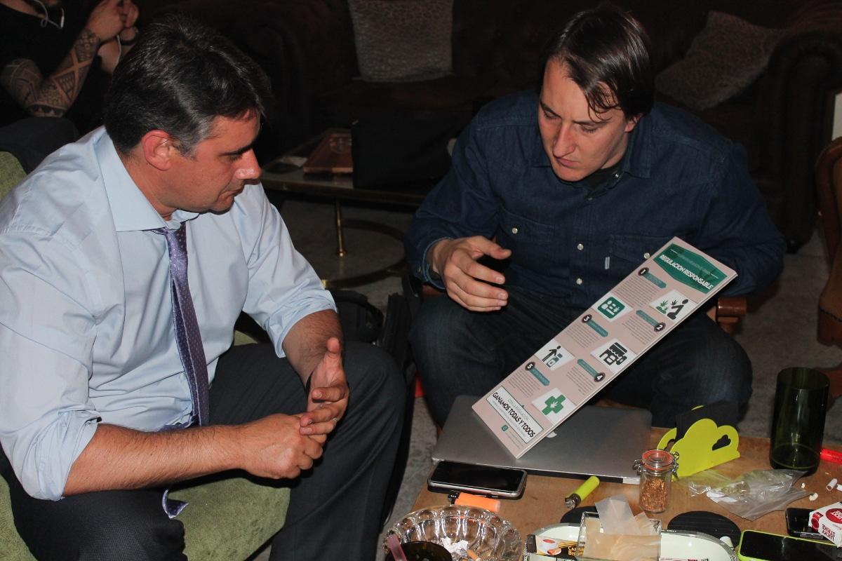 Juan Ignacio Moreno Yagüe, @Hackbogado, y el abogado portavoz de Regulación Responsable, Bernardo Soriano