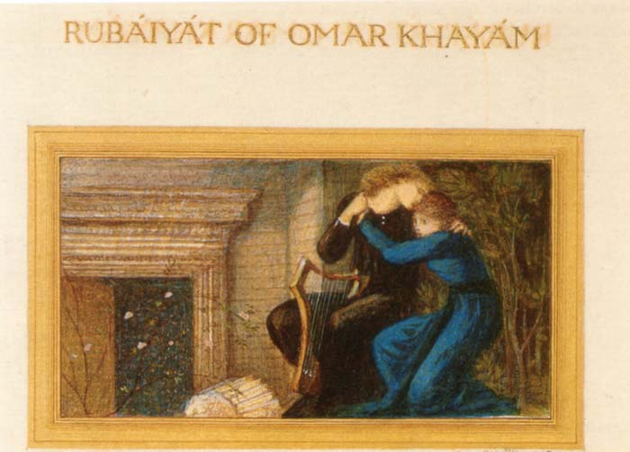 Manuscrito del Rubaiyat traducido por Morris Burne Jones
