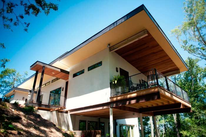 Casa construida con cáñamo