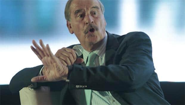 El expresidente de México Vicente Fox en una intervención pública