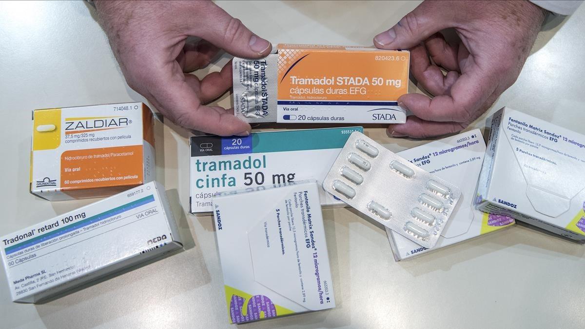 Diferentes farmacos derivados del opio
