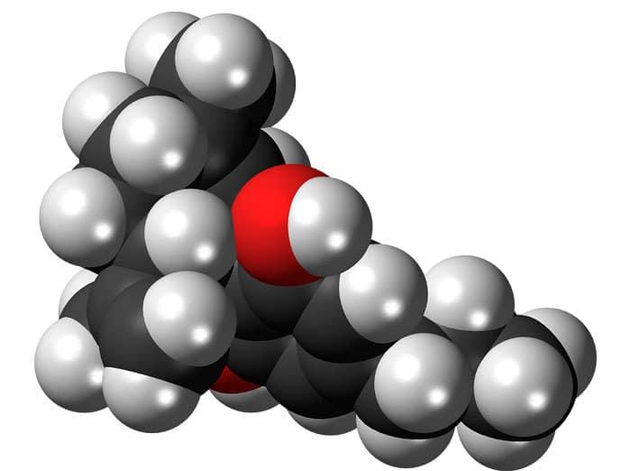 Estructura molecular del cannabidivarin (CBDV)