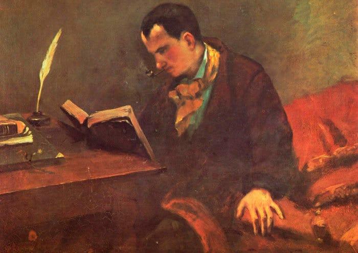 Gustave Courbet Retrato de Baudelaire