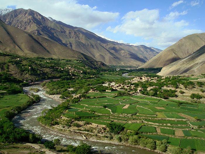 Valle Panjshir en Afganistán