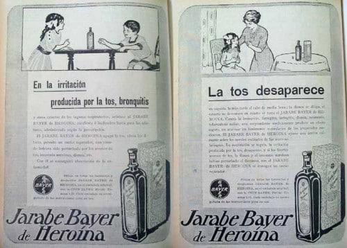 Jarabe de Bayer heroína