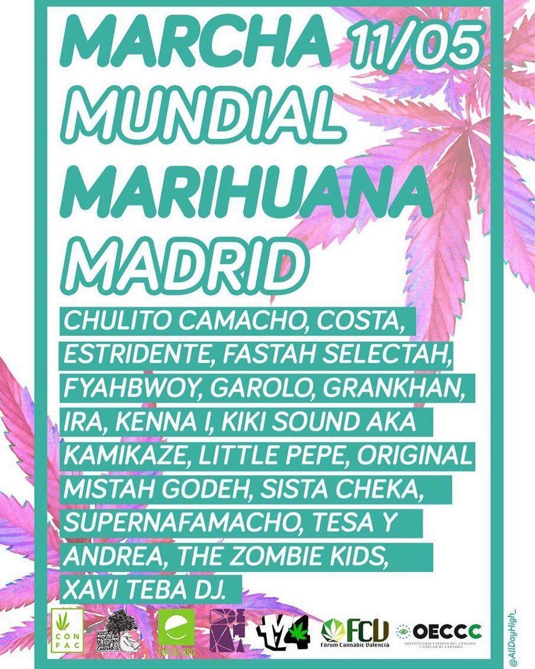 El cartel de la marcha de Madrid