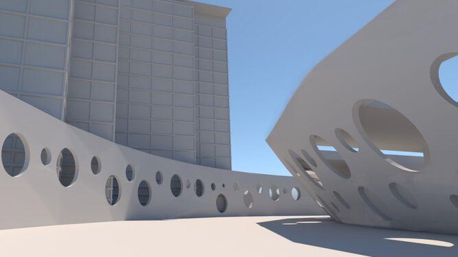 Detalle del diseño arquitectónico ideado por Antonio Moneo