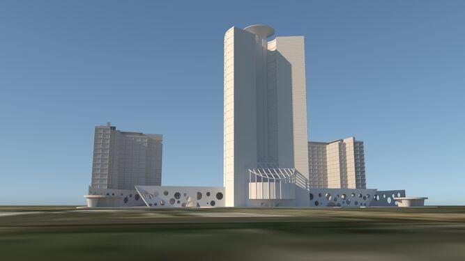 Diseño del hospital y hotel del arquitecto Antonio Moneo