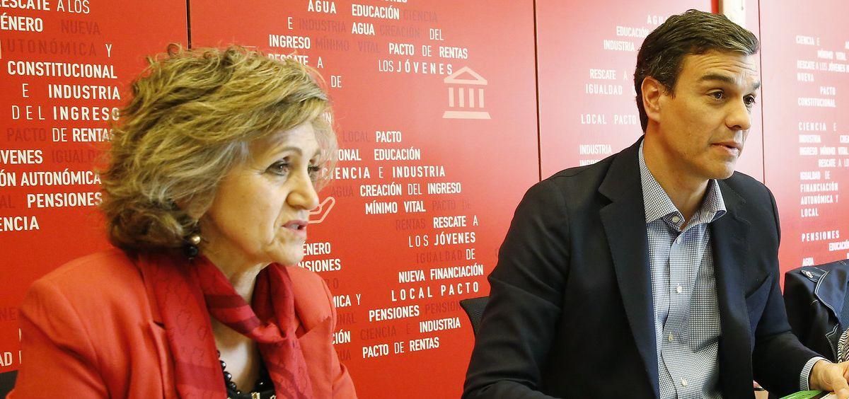 María Luisa Carcedo y Pedro Sánchez, ministra de Sanidad y presidente del Gobierno en funciones (Foto: Flickr PSOE)