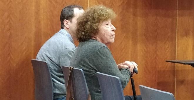 La veterana activista por la regularización del cannabis Fernanda de la Figuera, durante el juicio en el Juzgado de lo Penal 5 de Málaga.