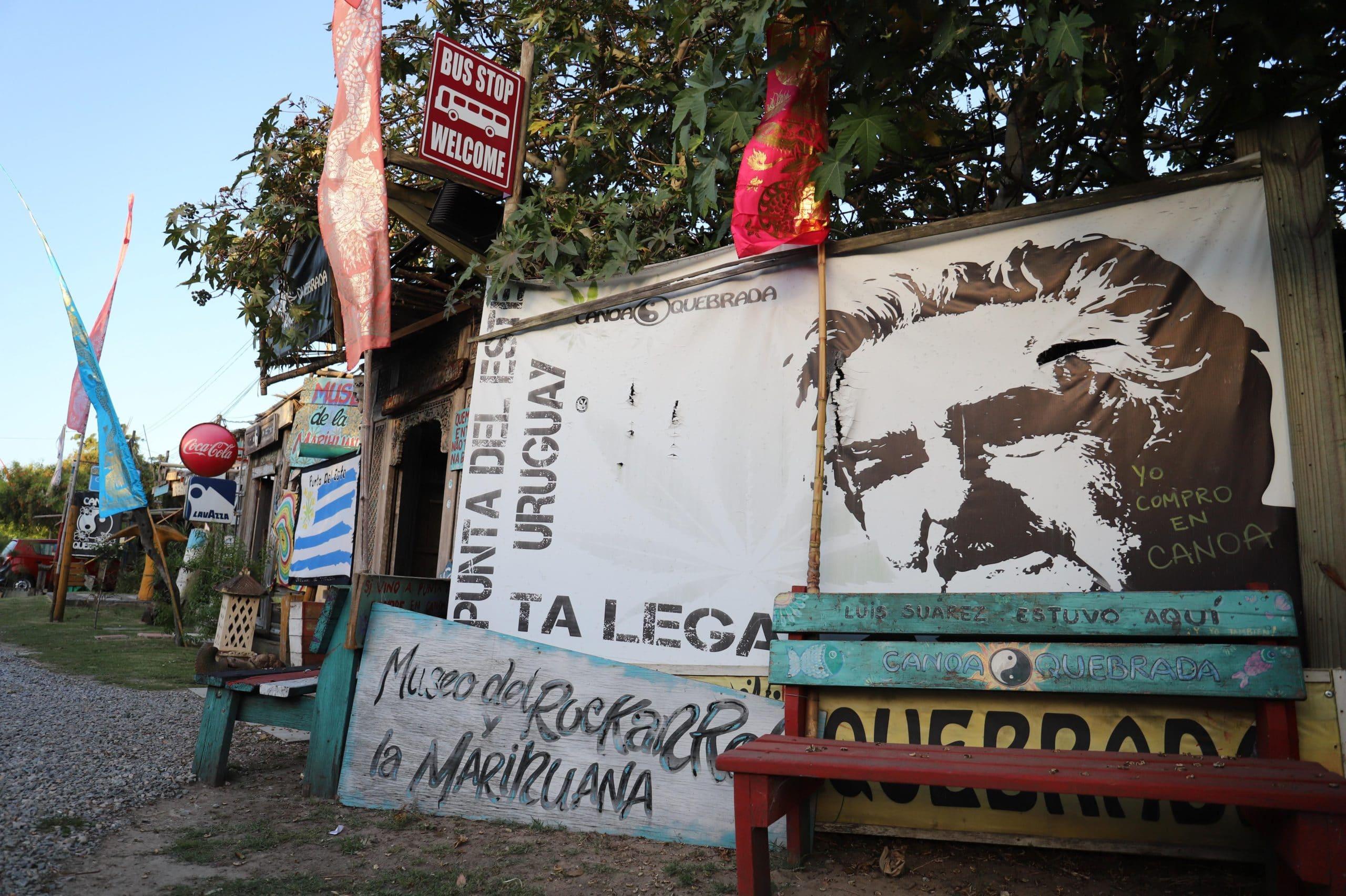 La imagen del Pepe Mujica se repite en Varios rincones del Museo de la Cannabis. Fotos: M Souto.