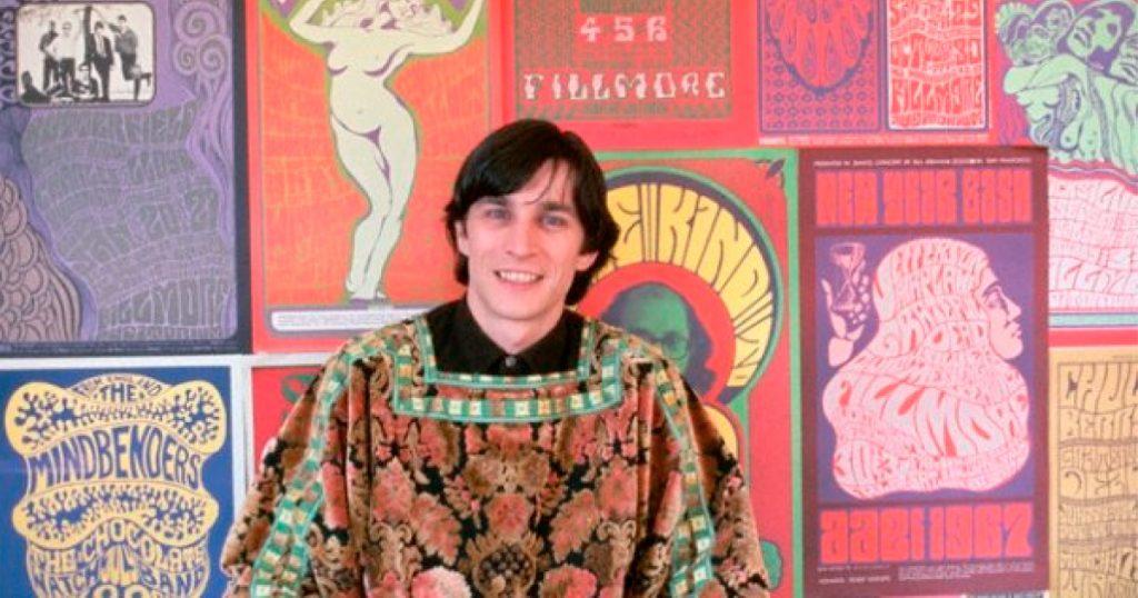Wes Wilson, diseñador considerado el padre del cartel psicodélico en los años 60