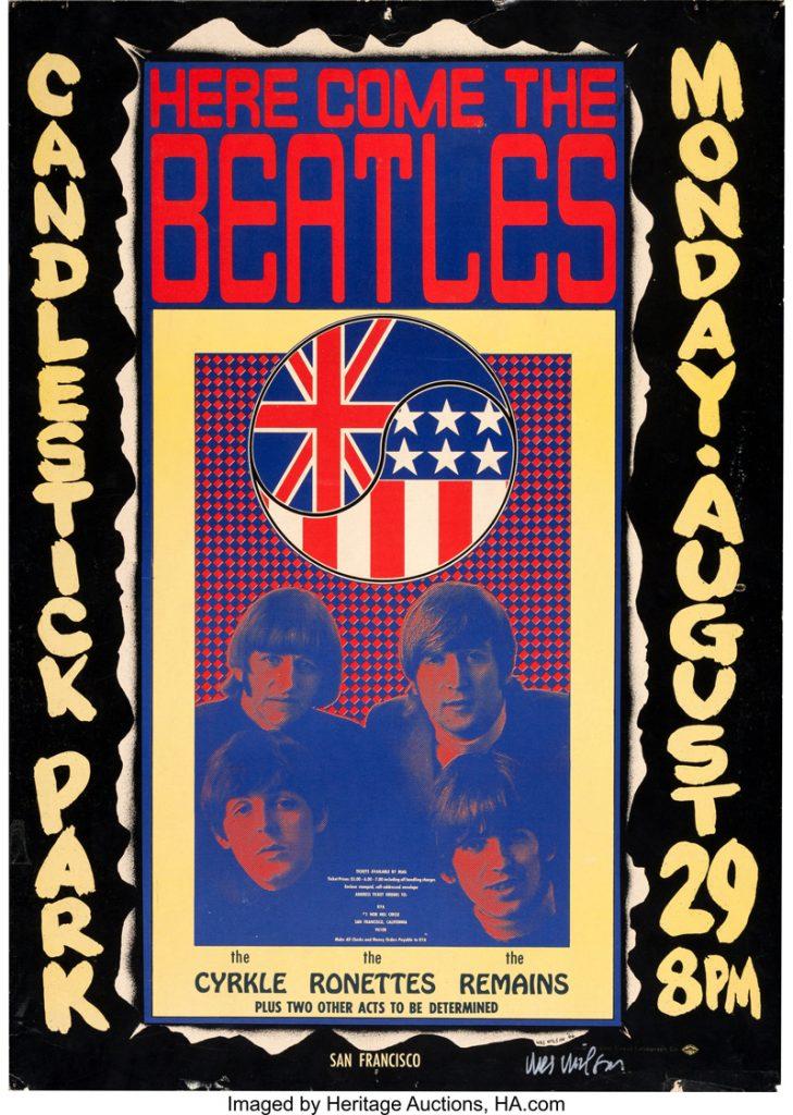 cartel de los Beatles diseño de Wes Wilson