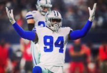 Randy Gregory (Dallas Cowboys) lleva suspendido desde febrero de 2019 por cuatro positivos en cannabis.