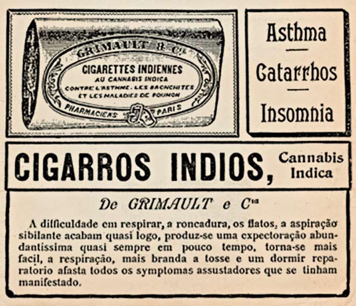 Anuncio de Cigarros de cannabis