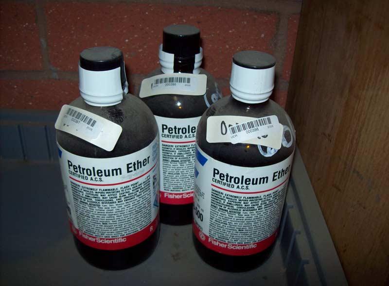 botellas de éter