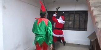 policía navidad